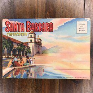 Vintage Santa Barbara CA Souvenir Postcard Book